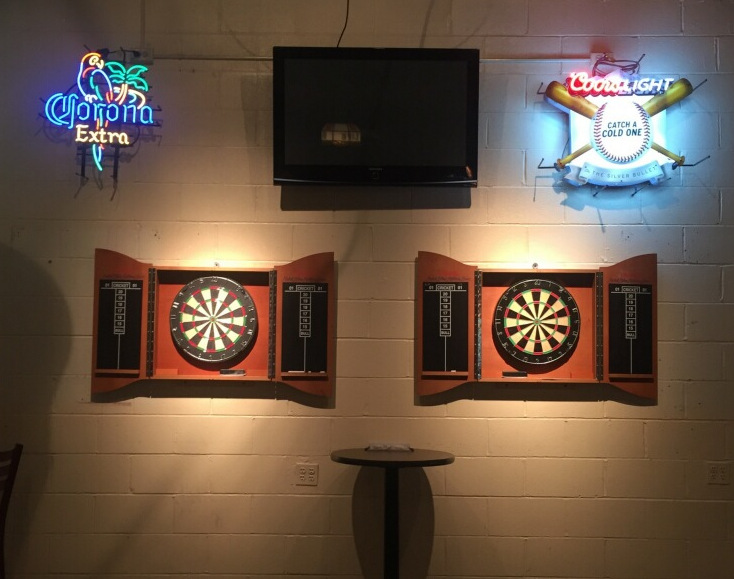 Now Featuring Brand New Dart Boards
