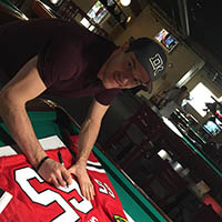 Andrew Shaw of the BlackHawks Visits